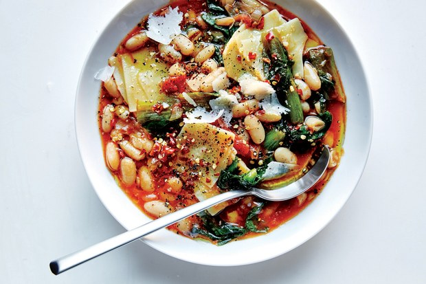 Pasta E Fagipoli with Escarole - courtesy Epicurious from Great British Chefs.