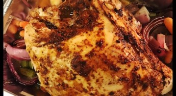 turkey, cajun spices, roasted