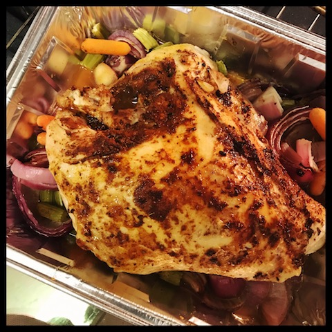 turkey, cajun spices, roasted