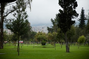 Park on my way to Old Town, Quito, Ecuador