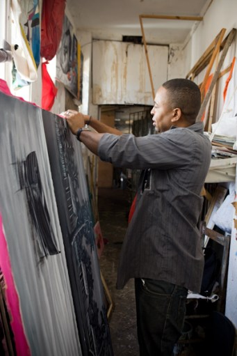 An Artist at the Santo Domingo Market