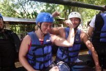 Shari ready for white water rafting in Jarabacoa, Dominican Republic