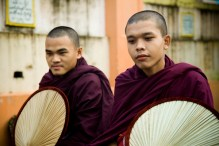 Monks in Yangon, Myanmar