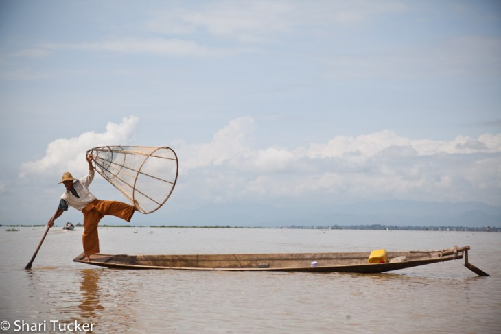 Fishing on Inle Lake, Myanmar