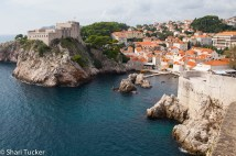Outside the city walls of Dubrovnik