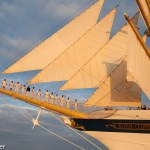 Royal Clipper send off wave