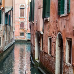 Architecture in Venice, Italy along the canals