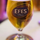 Turkish Food - Efes Beer