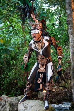 Warrior at Xcaret, Mayan Riviera, Mexico