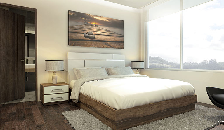 deco murale chambre a coucher idees