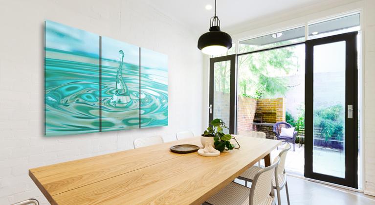 murales pour la salle a manger moderne