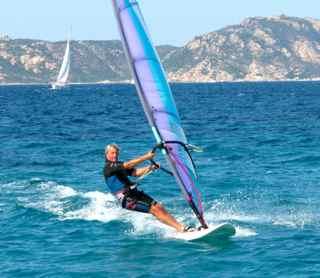 Frieder windsurfing.