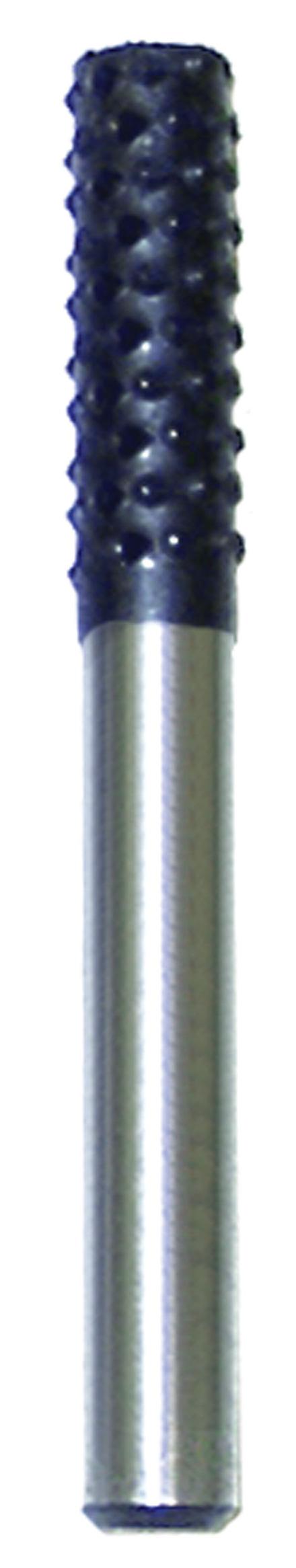 Rotary Wood Rasp made of High Quality Steel – Cylindrical – 1/4″ x 1/4″ mandrel.
