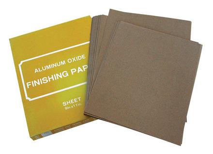 Sand Paper – Aluminum Oxide 9″ x 11″ – 120 Grit 80 pack.