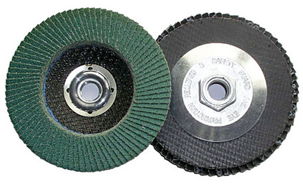 Flap Disc – Type 27 Zirconia 4.5″ x 5/8-11 – 60 Grit. 1 pack.