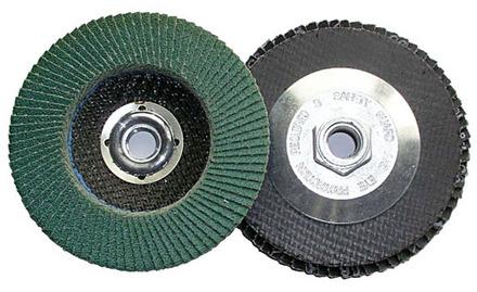 Flap Disc – Type 27 Zirconia 4.5″ x 5/8-11 – 36 Grit. 1 pack.
