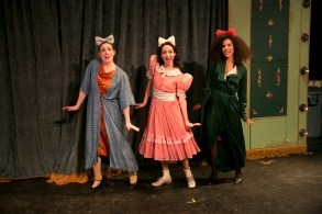 """In this clowning bonanza, Sharlee Taylor plays one of a comedic trio, singing """"Zoo in his Pants,"""" an irreverent and hilarious number."""