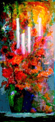 poppy_candelabra_oil_painting_by_sharles