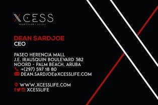 Xcess Business card front