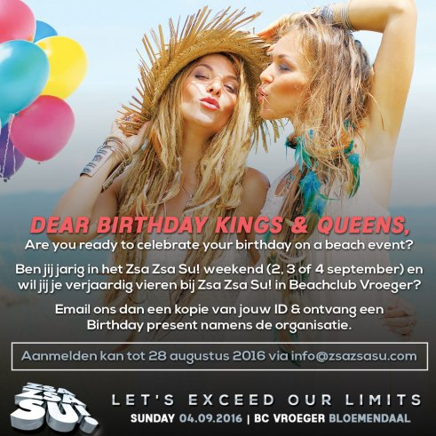 Birthday flyer Zsa Zsa Su! - Exceed our limits!