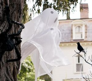 hanging ghost globes