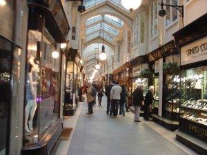Inside the beautiful Burlington Arcade