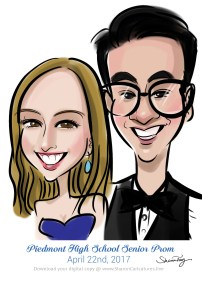 caricatures for prom 10