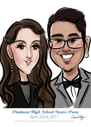 caricatures for prom 14