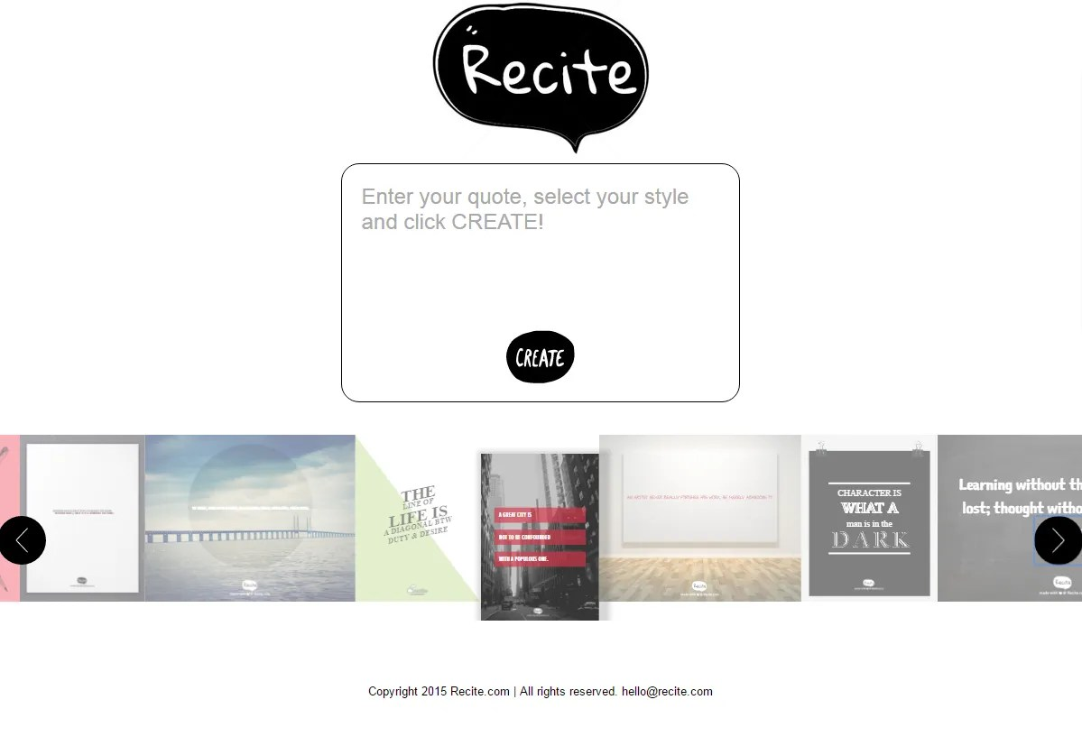 תוכנות לעיצוב תמונה עם משפט השראה לפוסט - recite - שרון פל