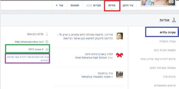 אודות 1 שרון פל הדרכות פייסבוק