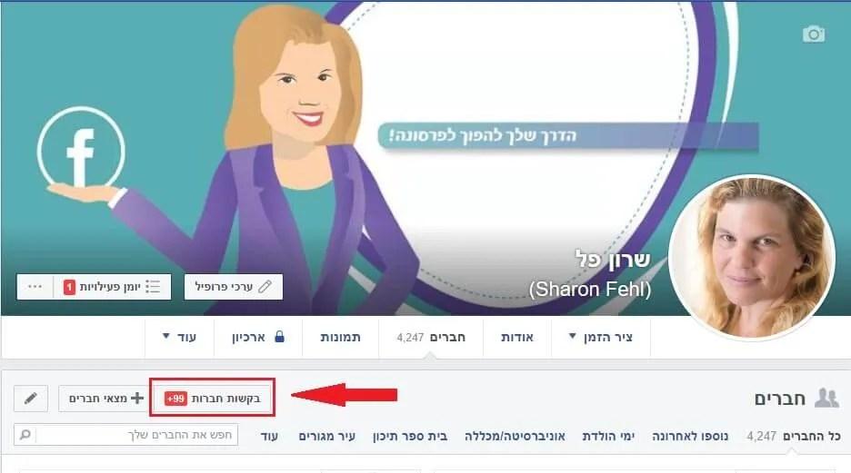 פעולות ניקיון וסדר בפייסבוק בקשות חברות