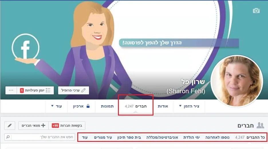 פעולות ניקיון וסדר בפייסבוק חברים
