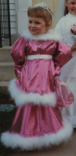 The princess at age four