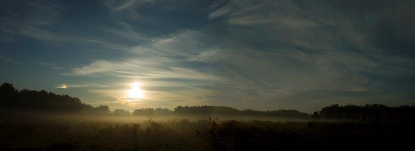 Horizon at the break of day