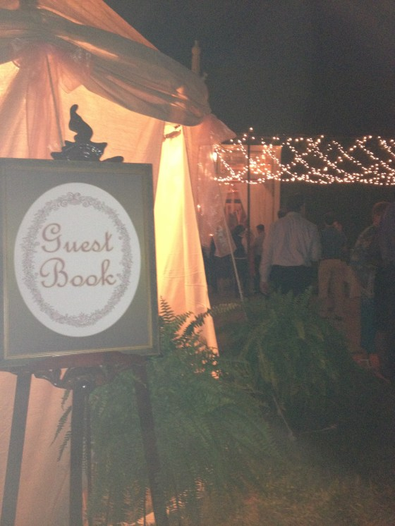 Tent for Guest Book