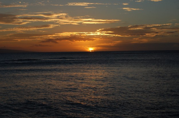 Sun tucking into the Pacific Ocean for the night