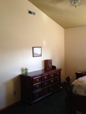 A master bedroom anyone can mentally redecorate