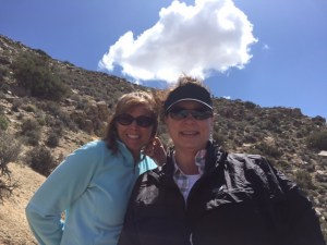 Us girls on the climb up Ryan Mountain