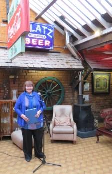 Sharon, deputising for Roger as host