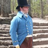 Re-enactor Michael Ramsey
