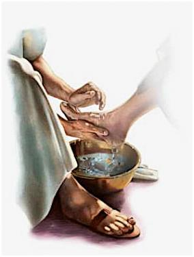 maundy thursday footwashing
