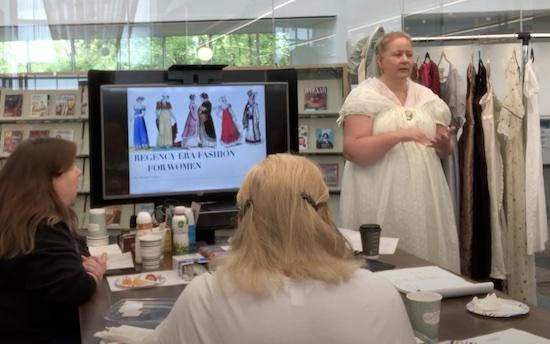Speech on Fashion for the Regency Era Woman