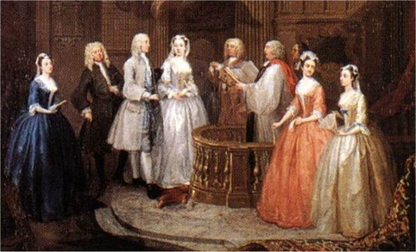 William Hogarth, The Marriage of Stephen Beckingham and Mary Cox, c.1729