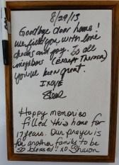 sandstone board message