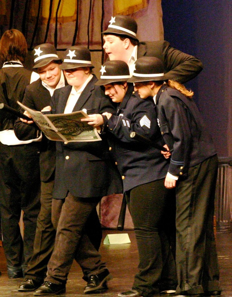 Stage debut as a Keystone Cop in Aladdin