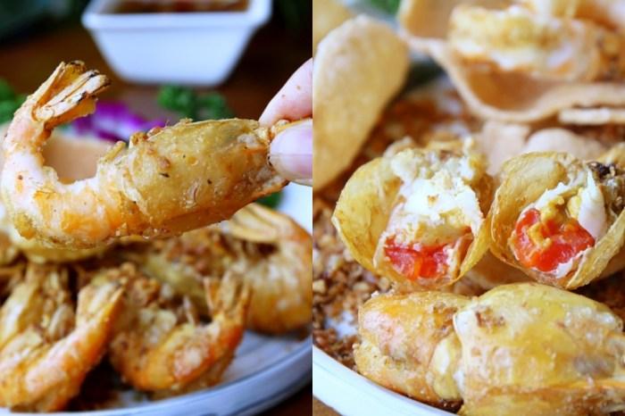 鴻龍宴 整艘大船開進店好文青 新菜單有八種活蝦料理 滿滿泰國蝦吃起來!