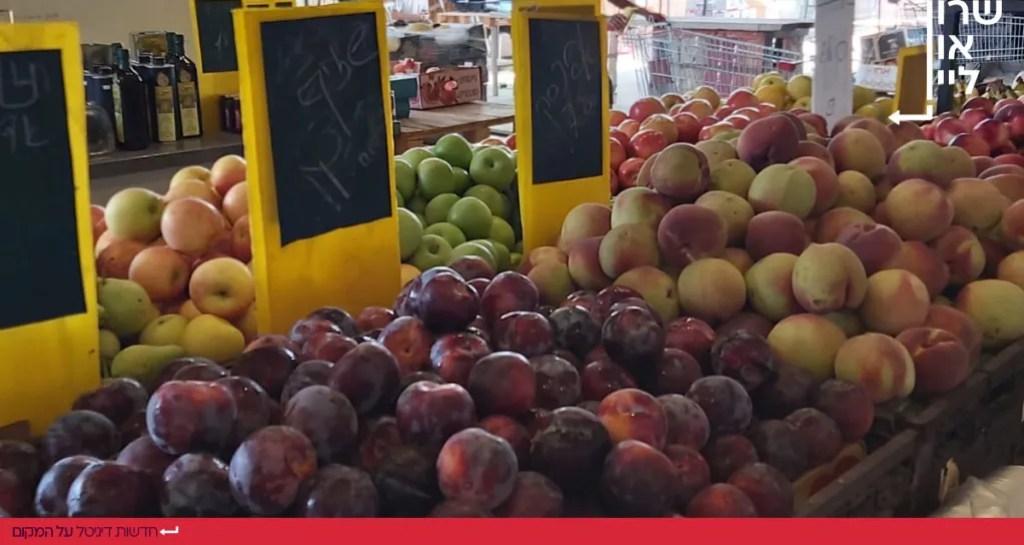 משק שוורצברג מהחקלאי לצרכן בהרצליה שזיפים אפרסקים ותפוחים