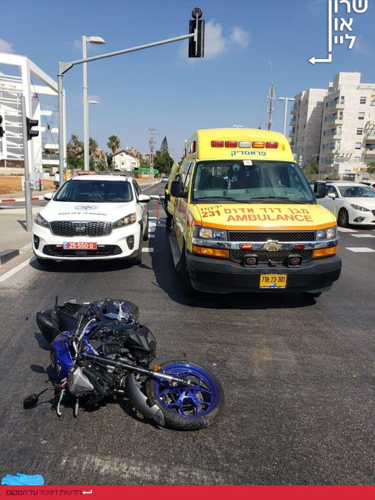 תאונת דרכים אופנוע בהרצליה