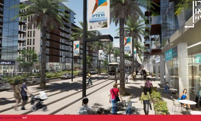 תכנית חוף התכלת. תמונת הדמייה, באדיבות קייזר אדריכלים