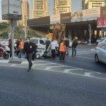 תאונת אופנוע בהרצליה מחלף הסירה 10.01.2020